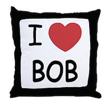 I heart Bob Throw Pillow