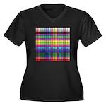 256 Colors Women's Plus Size V-Neck Dark T-Shirt