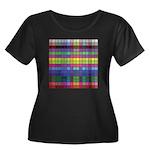 256 Colors Women's Plus Size Scoop Neck Dark T-Shi