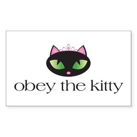 Princess Kitty Sticker (Rectangle)