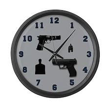 Large Handgun Wall Clock