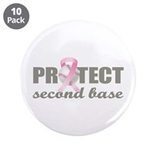 """Second Base 3.5"""" Button (10 pack)"""