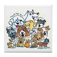 Thank You Dogs & Cats Tile Coaster