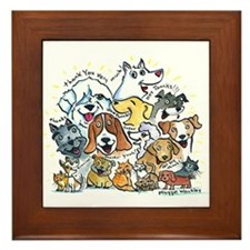 Thank You Dogs & Cats Framed Tile