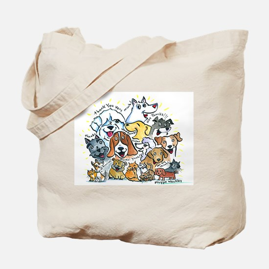 Thank You Dogs & Cats Tote Bag