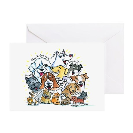 Thank You Dogs & Cats Greeting Cards (Pk of 10)