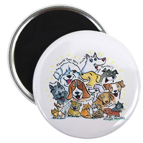 """Thank You Dogs & Cats 2.25"""" Magnet (100 pack)"""
