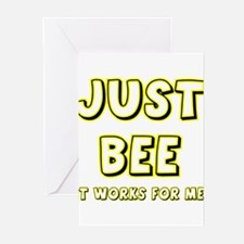 Just BEE it works for Me! Greeting Cards (Pk of 10