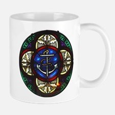 Stained Glass Fouled Anchor Mug