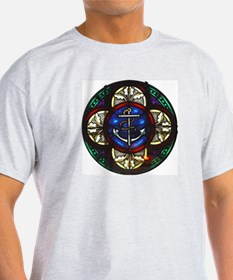 Stained Glass Fouled Anchor T-Shirt