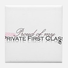 Private First Class Tile Coaster