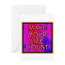 YOU ONLY GET ONE LIFE Greeting Card