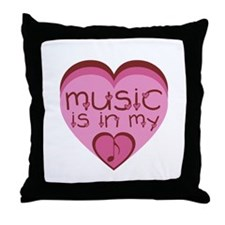 Music is in my heart. Throw Pillow