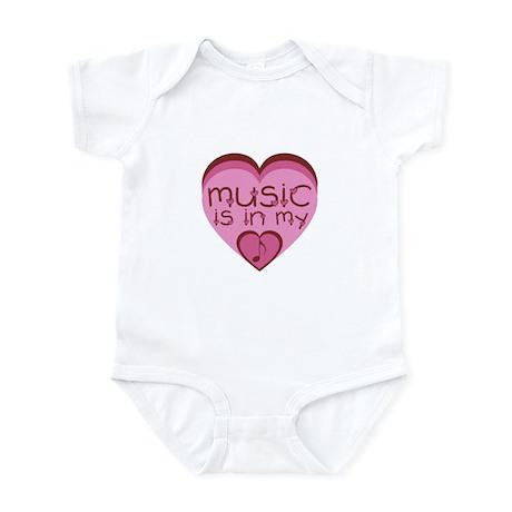 Music is in my heart. Infant Bodysuit