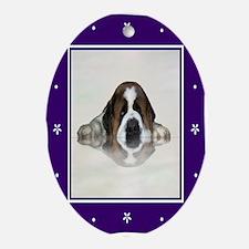 Saint bernard Oval Ornament