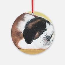 Saint Bernard sleeping Ornament (Round)