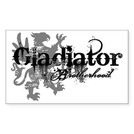 Gladiator Brotherhood Sticker (Rectangle)