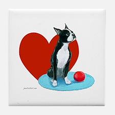Tile Coaster Art - Boston Terrier