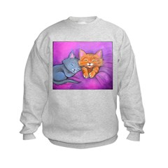 Kittens In Bed Sweatshirt