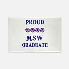 Cute Masters in social work Rectangle Magnet