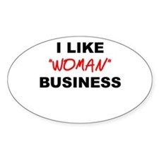 Woman Business Oval Decal