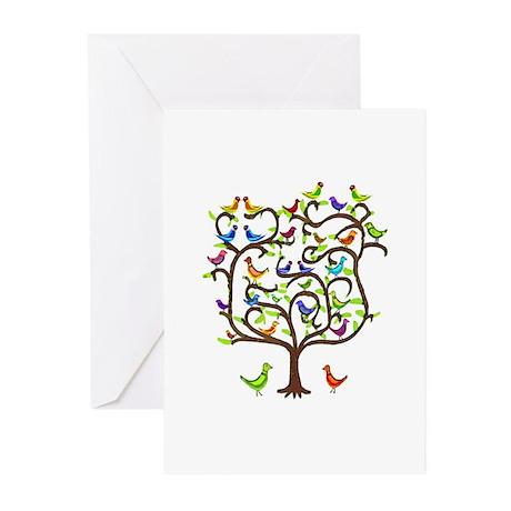 bird tree Greeting Cards (Pk of 10)