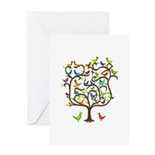 bird tree Greeting Card