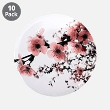 """Cherry Blossoms 3.5"""" Button (10 pack)"""