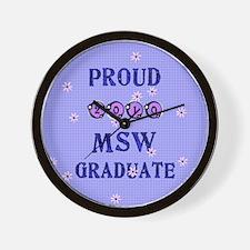 Cute Msw Wall Clock