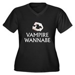 Vampire Wannabe Women's Plus Size V-Neck Dark T-Sh