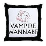 Vampire Wannabe Throw Pillow