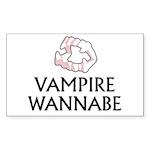 Vampire Wannabe Sticker (Rectangle)