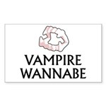 Vampire Wannabe Sticker (Rectangle 10 pk)