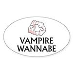 Vampire Wannabe Sticker (Oval)