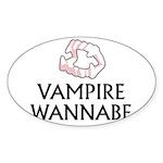 Vampire Wannabe Sticker (Oval 50 pk)
