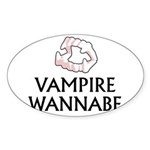 Vampire Wannabe Sticker (Oval 10 pk)