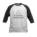 Vampire Wannabe Kids Baseball Jersey