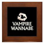 Vampire Wannabe Framed Tile