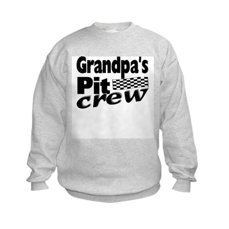 Grandpa's Pit Crew Kids Sweatshirt