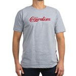 Destroy Corporatism Men's Fitted T-Shirt (dark)