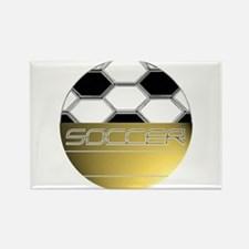 Golden Soccer Rectangle Magnet