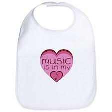 Music is in My Heart Bib