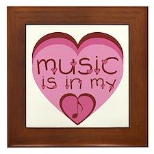 Music is in My Heart Framed Tile