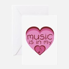 Music is in My Heart Greeting Card