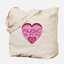 Music is in My Heart Tote Bag