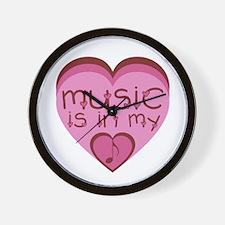Music is in My Heart Wall Clock