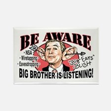 Big Ears Bush Spying on US Rectangle Magnet