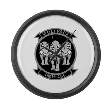 HMH-466 Wolfpack Large Wall Clock