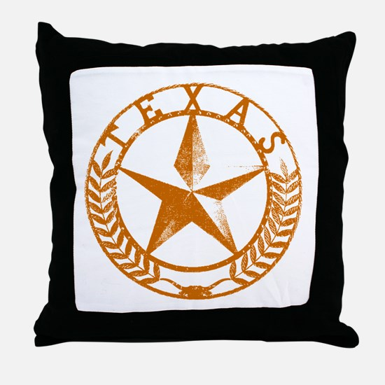 Texas Star Throw Pillow