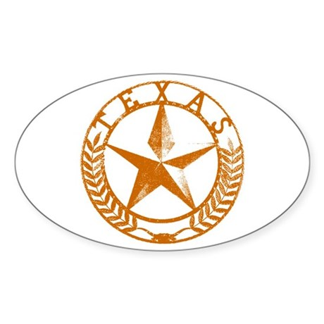 Texas Star Sticker (Oval)